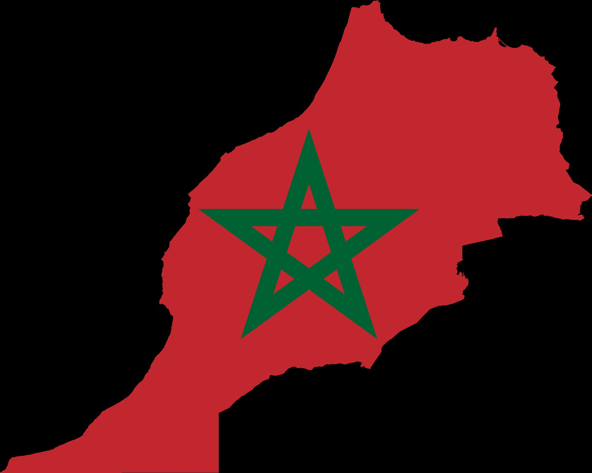 Cartina Marocco Da Colorare.Bandiera Marocco Da Colorare