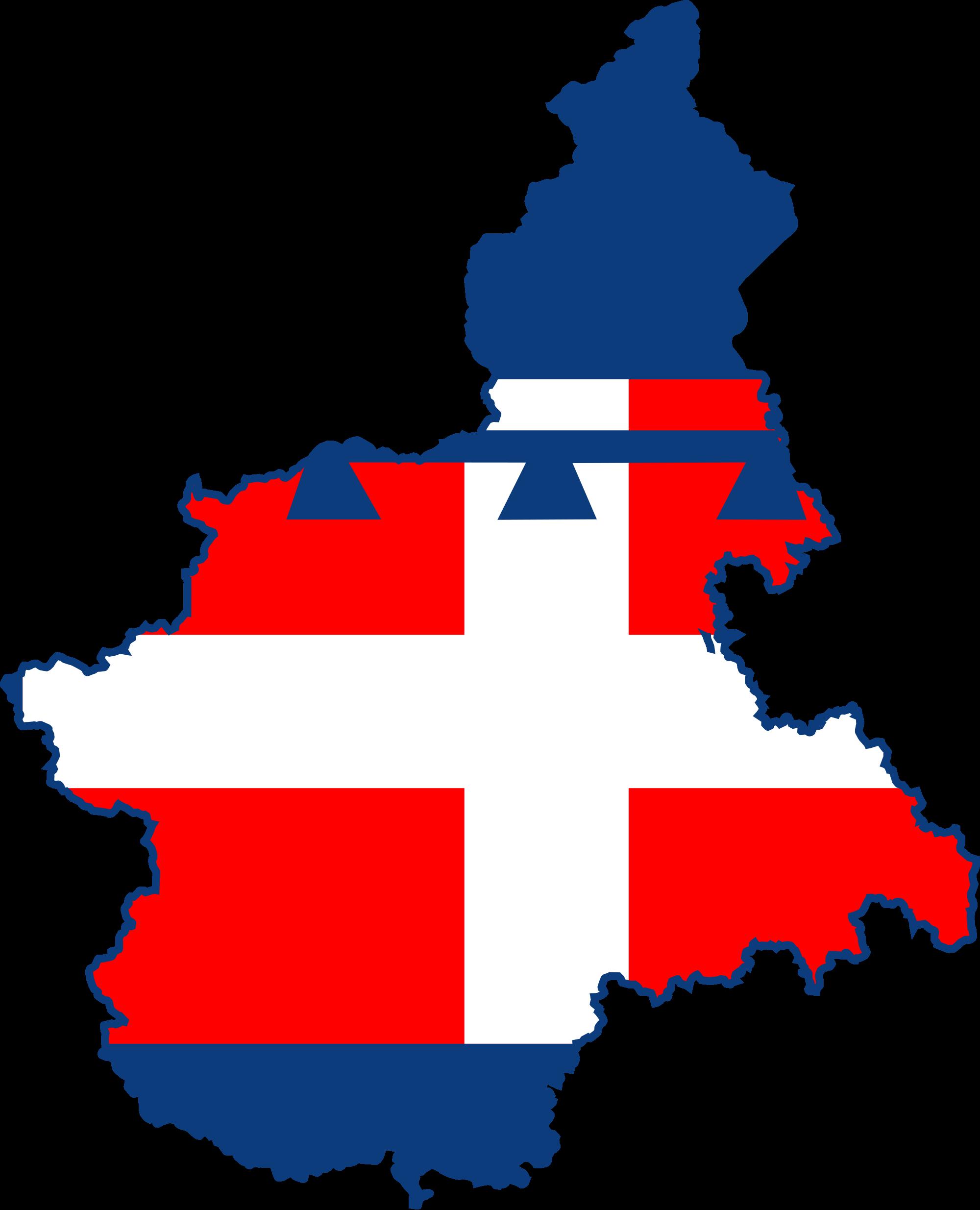 Cartina Regione Piemonte.Bandiera Regione Piemonte